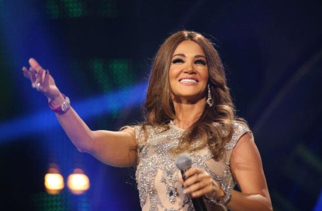The princess is here! Diana Haddad hits up Arab Idol as a guest star.