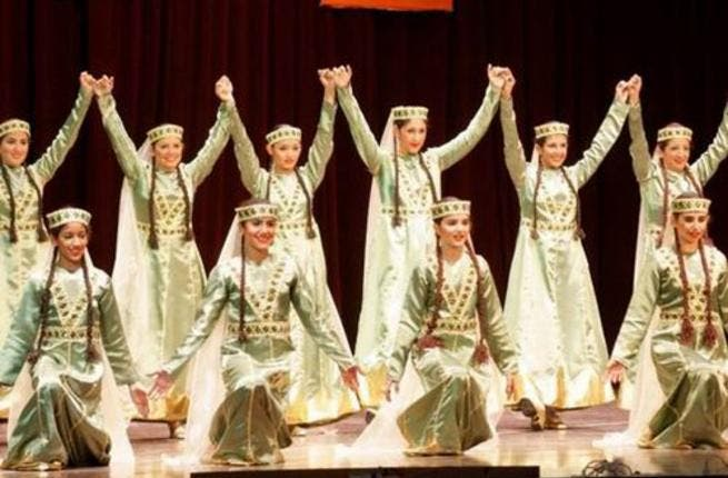 Egyptian-Armenian folkloric troupe (photo courtesy of Ahram Online)