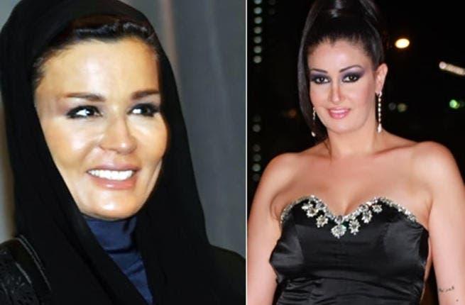 Sheikha Mozah (L) will be played by Ghada Abdel Razek (R)