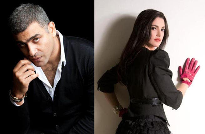 Hani Adel and Dorra are separate, not together.