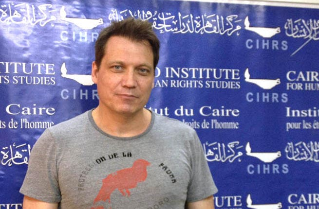 Actor Holt McCallany visits Cairo