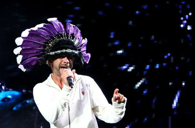 Jamiroquai gettin' cray-cray in Italy. What will he be sportin' in Dubai? (Photo by Andrew Hone/Getty Images )