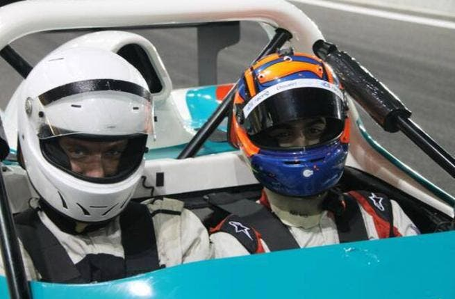 Jude Law getting his race on at Abu Dhabi's Yas Marina Circuit (photo from judelawlife.blogspot.com)