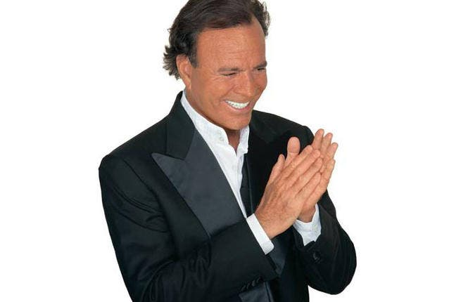 Spanish singer Julio Iglesias performed live at Amman Citadel
