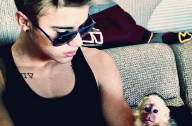Bieber had to leave his monkey in Munich back in March.