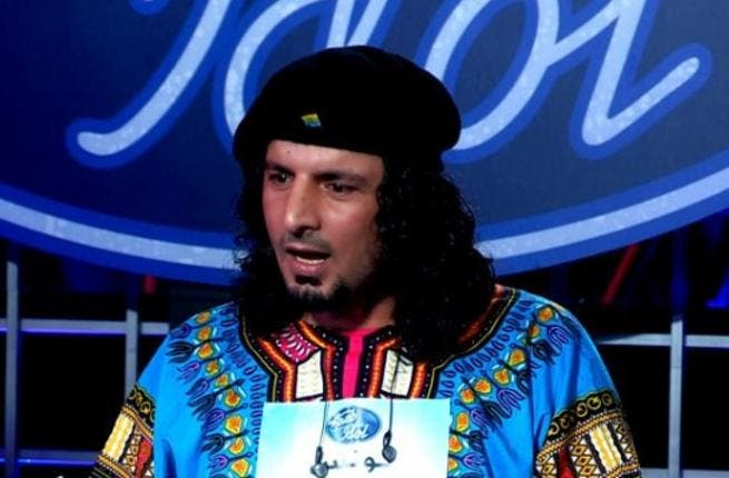 This Libyan contestant on Arab Idol 2 made more of an impact with his outfit than his voice.