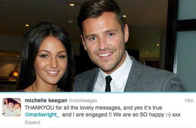 Dubai has special meaning for Michelle Keegan and fiancee Mark Wright. (Image: Facebook)