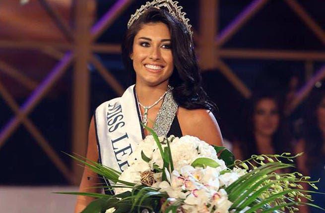 Karin Gharawi crowned Miss Lebanon 2013 (Image: Facebook)