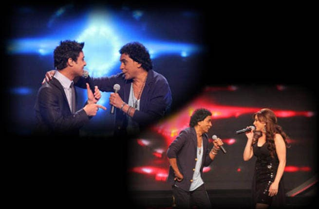 Mohamed Mounir mixes it up with contestants and judges on Arab Idol