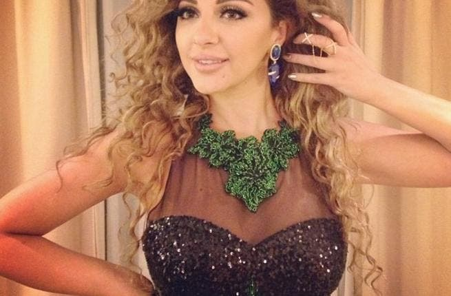 Myriam Fares all bedazzled for her Pyramids performance! (Image: Instagram)