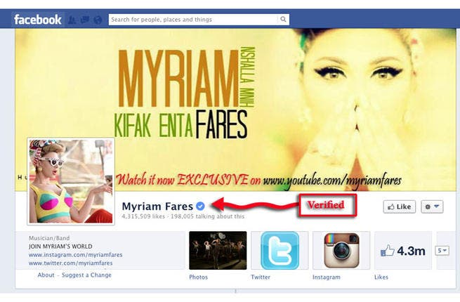 Myriam Fares' verified Facebook account is on fire!