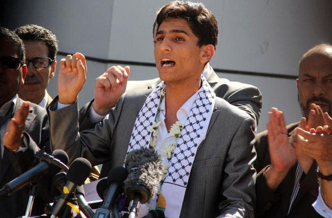 Palestine's new hero and Arab Idol winner Mohammad Assaf makes triumphal return to Gaza (AFP PHOTO/Khaled Omar)