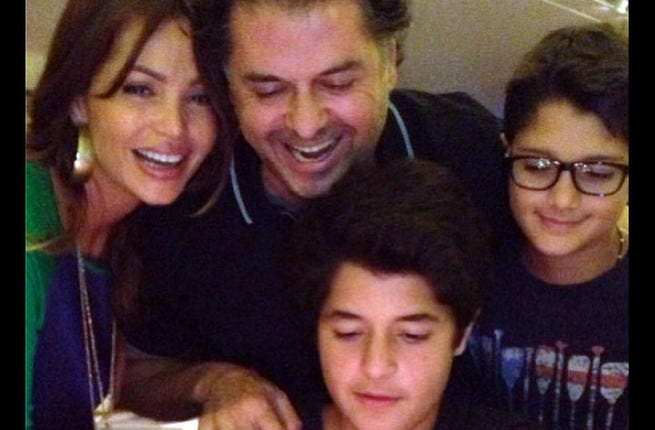 Say cheese! Ragheb Alama celebrated Louai's birthday with his wife and eldest son. (Image: Facebook)