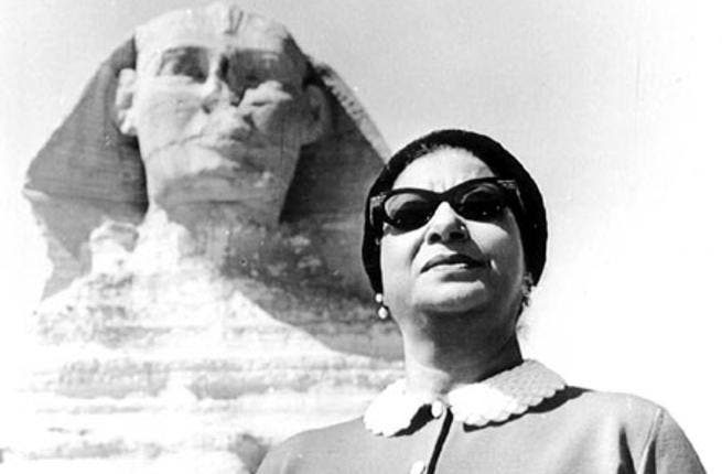 The late Egyptian diva Umm Kalthoum has her own Facebook page (photo from Tumblr.com)