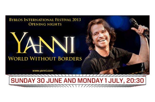No yawns, but plenty of Yanni coming to the Byblos International Festival