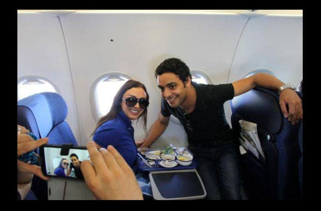 Arab Idol finalist Ahmad Jamal flies home to Egypt along with Angham