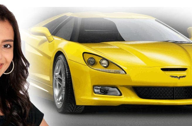 Carmen Suleiman can live without her prize Corvette