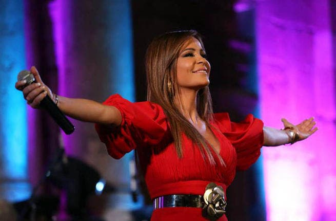 Carole Samaha graces the stage at Jerash (Photo courtesy of Facebook)