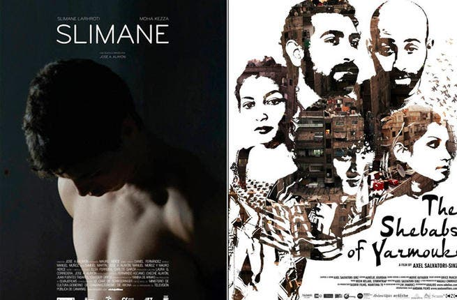 Two movie posters for some the Arabian additions to this year's DIFF