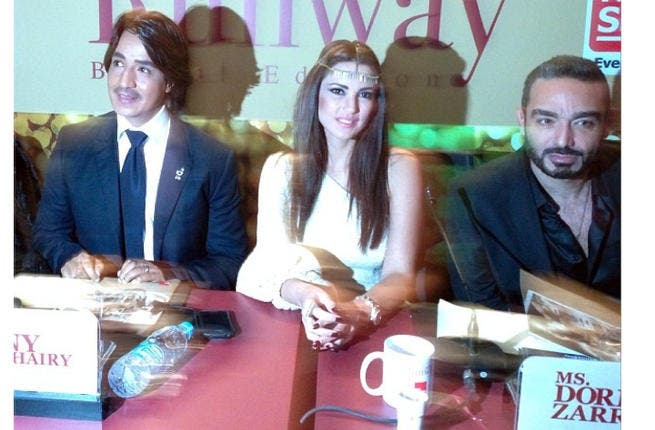 Zorra attending the Runway Bridal Edition recently with Hany Elbeheiri & Youssef Sbahi (Image courtesy her instagram)