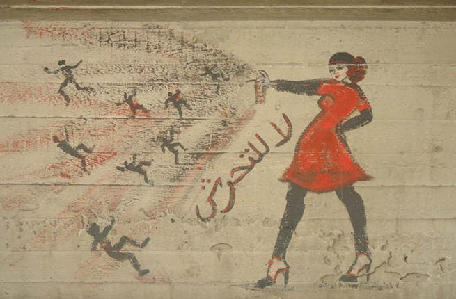 Spraying away the Egyptian harassment