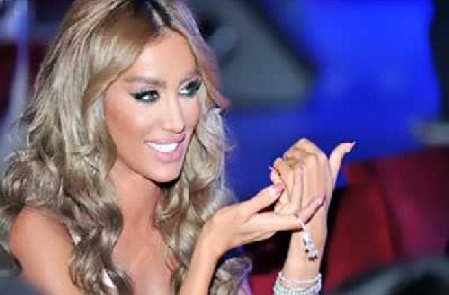 No shrinking violet, Maya Diab is hostile to the subject of divorce rumors