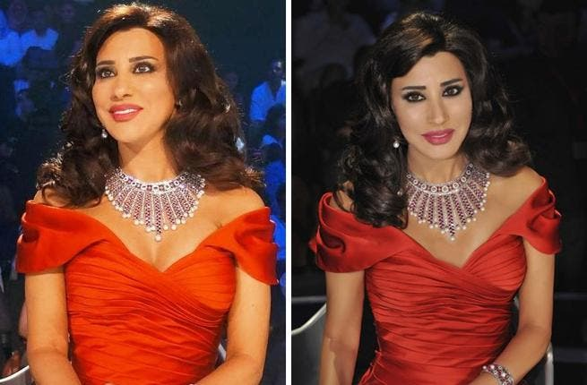 Najwa Karam turned Lady in Red