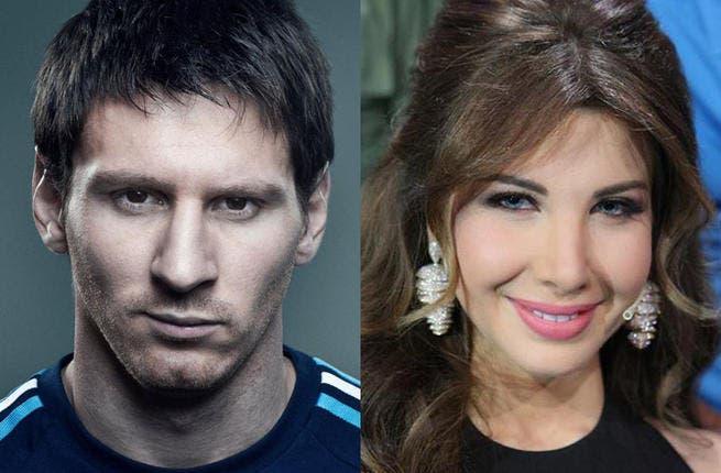 Messi on Nancy Ajram's mind