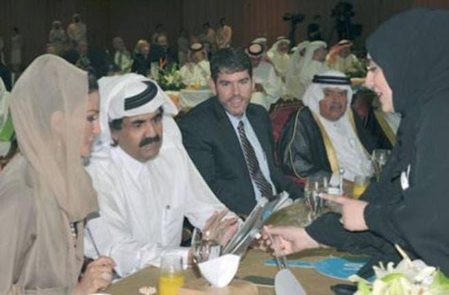Qatar Emir Sheikh Hamad Bin Khalifa Al Thani and his wife Shaikha Moza Bint Nasser at the gala dinner (Photo: Gulf News).
