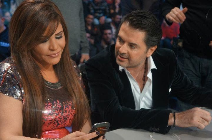 Ragheb Alama (R) and Ahlam (L) battle it out