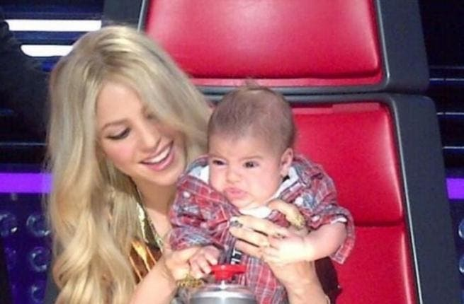 Half-Lebanese singer brings in her adorable baby boy Milan to 'The Voice', where she is on the judging panel