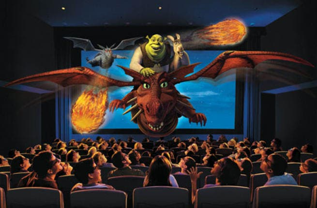 Shrek 4D in theaters in the US. (Image: Telepresenceoptions.com)
