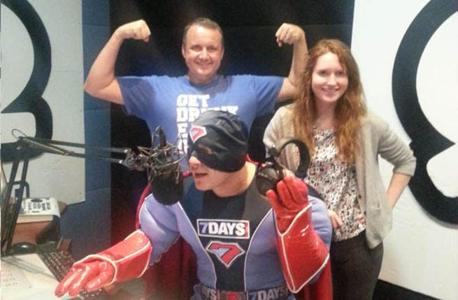Super7 on the air with Catboy and Geordiebird from Dubai 92 FM