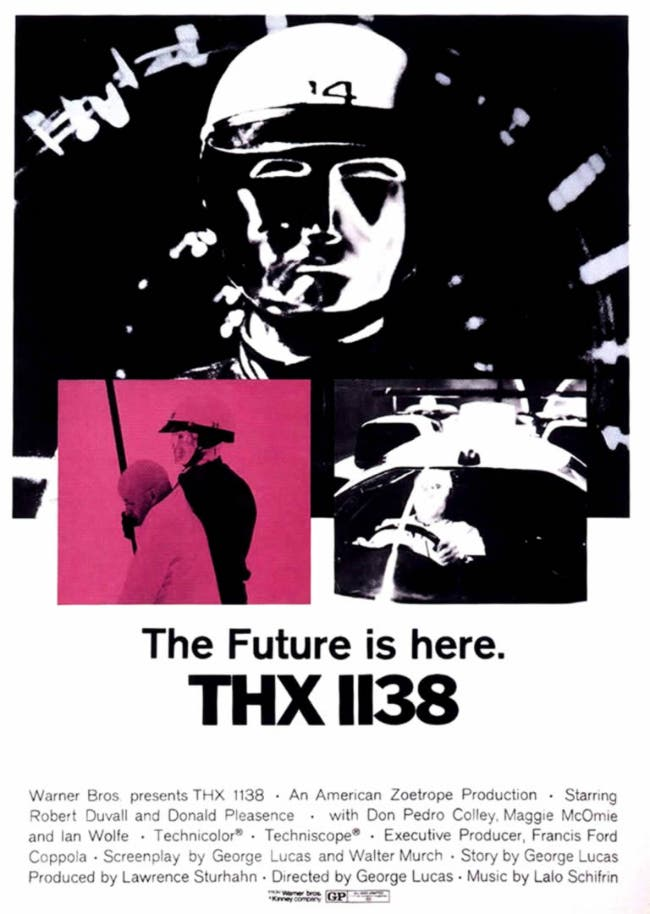 A poster for THX 1138. (Warner Bros. Entertainment Inc.)