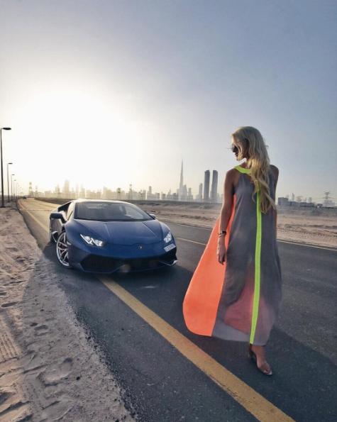 This Blonde Supercar Star Is Driving Dubai Wild Al Bawaba