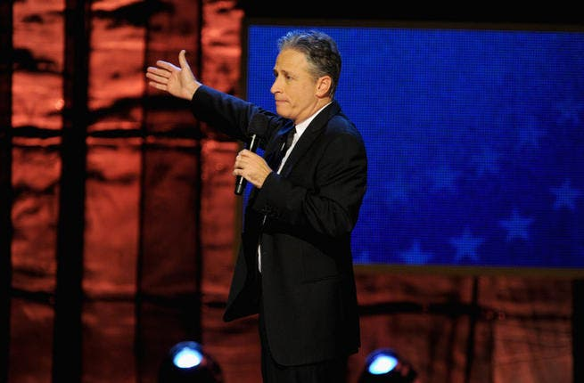 Comedian Jon Stewart is one the many headline acts who feature in the movie The Muslims Are Coming (Photo credit: Getty Images)