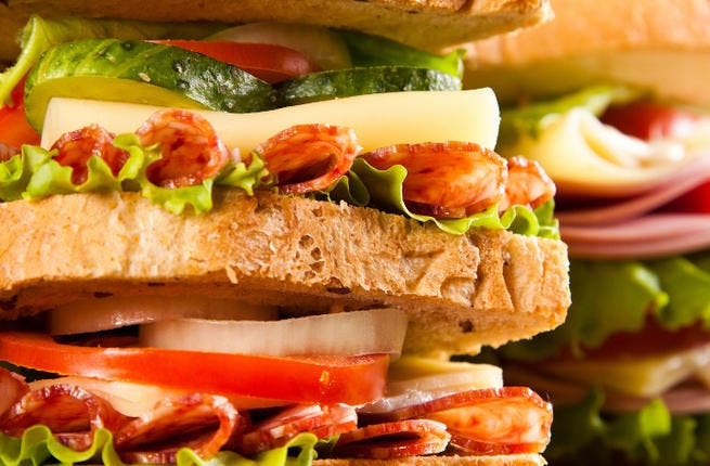 A Lebanese policeman has been arrested for smuggling sandwiches laced with a chemical used in making explosives. (Image credit: Shutterstock)