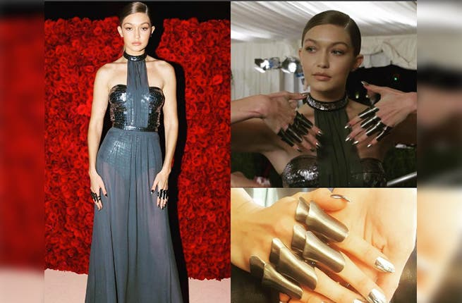 The devil's in the details: Gigi Hadid's Met Ball manicure ...