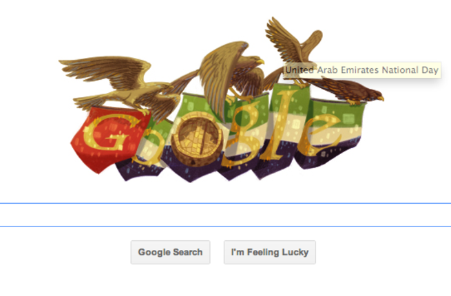 Google has celebrated the UAEs national day with a new 'Google doodle'