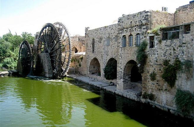 Hama,once the Greco-Roman Epiphania, renamed again Hama, its ancient name restored by Muslim rule, 7th century.