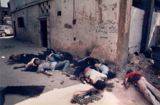 Meanwhile '82  in Lebanon, Sabra and Shatila, got a similar treatment when Christian Lebanese
