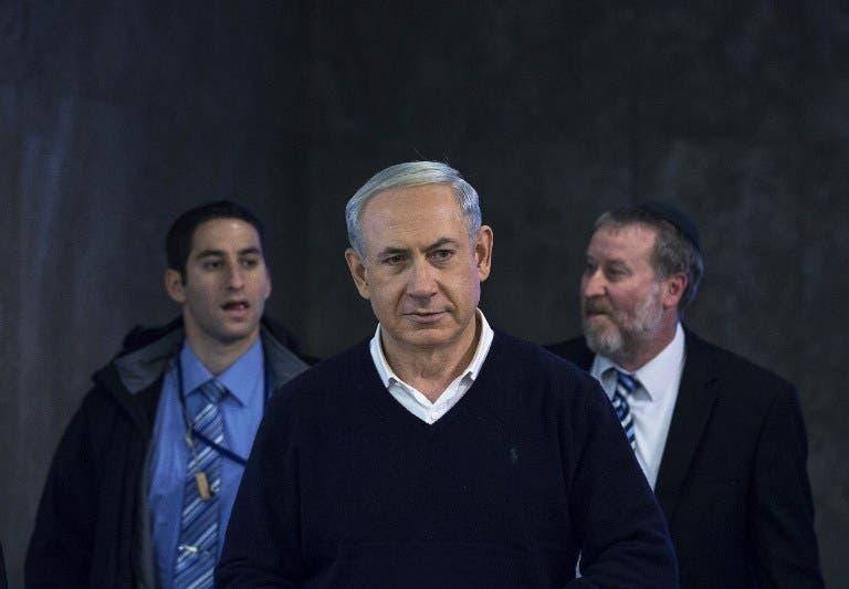 Israel's Prime Minister Benjamin Netanyahu arrives for the weekly cabinet meeting in Jerusalem. [AFP]
