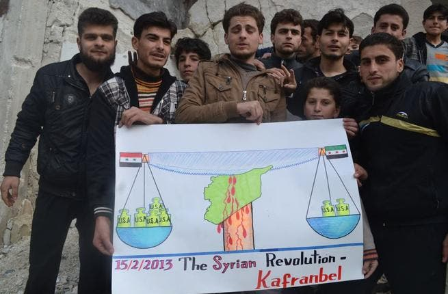 With the U.S. refusing to provide arms for the Syrian opposition but endorsing their political coalition, the boys of Kafranbel have got a little confused. Mixed signals they may be but they're also playing with Syrians' lives.
