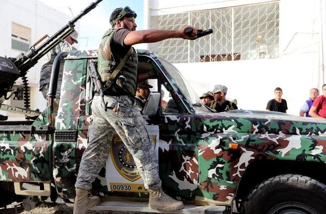 Libyan state security forces known as the