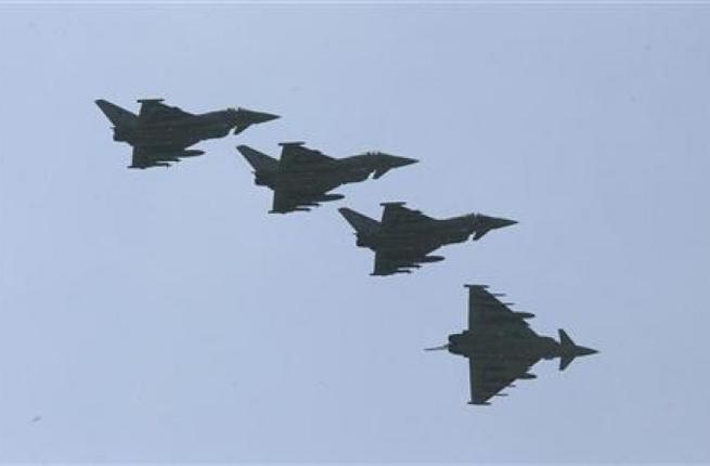 Coalition warplanes