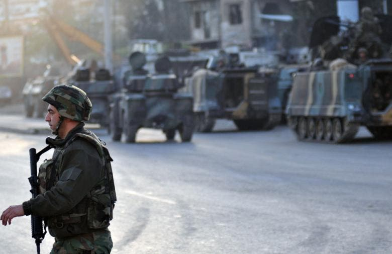 The Lebanese army arrested men who were suspected to have fired on civilians and security personnel (File-AFP)