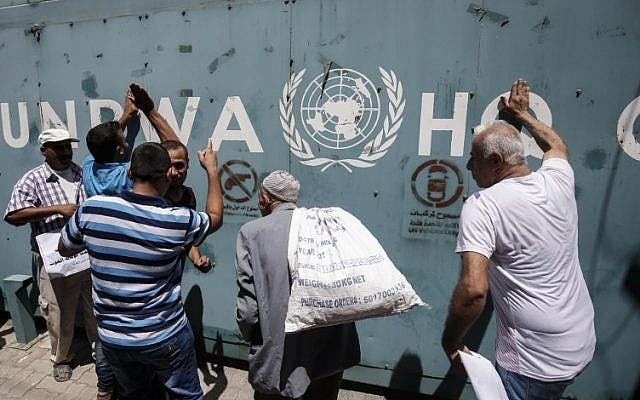 The UNRWA is the UN agency that was initiated to help Palestinian refugees who fled their homes in 1948. It operates in Palestine, Jordan, Syria and Lebanon. (AFP/File Photo)