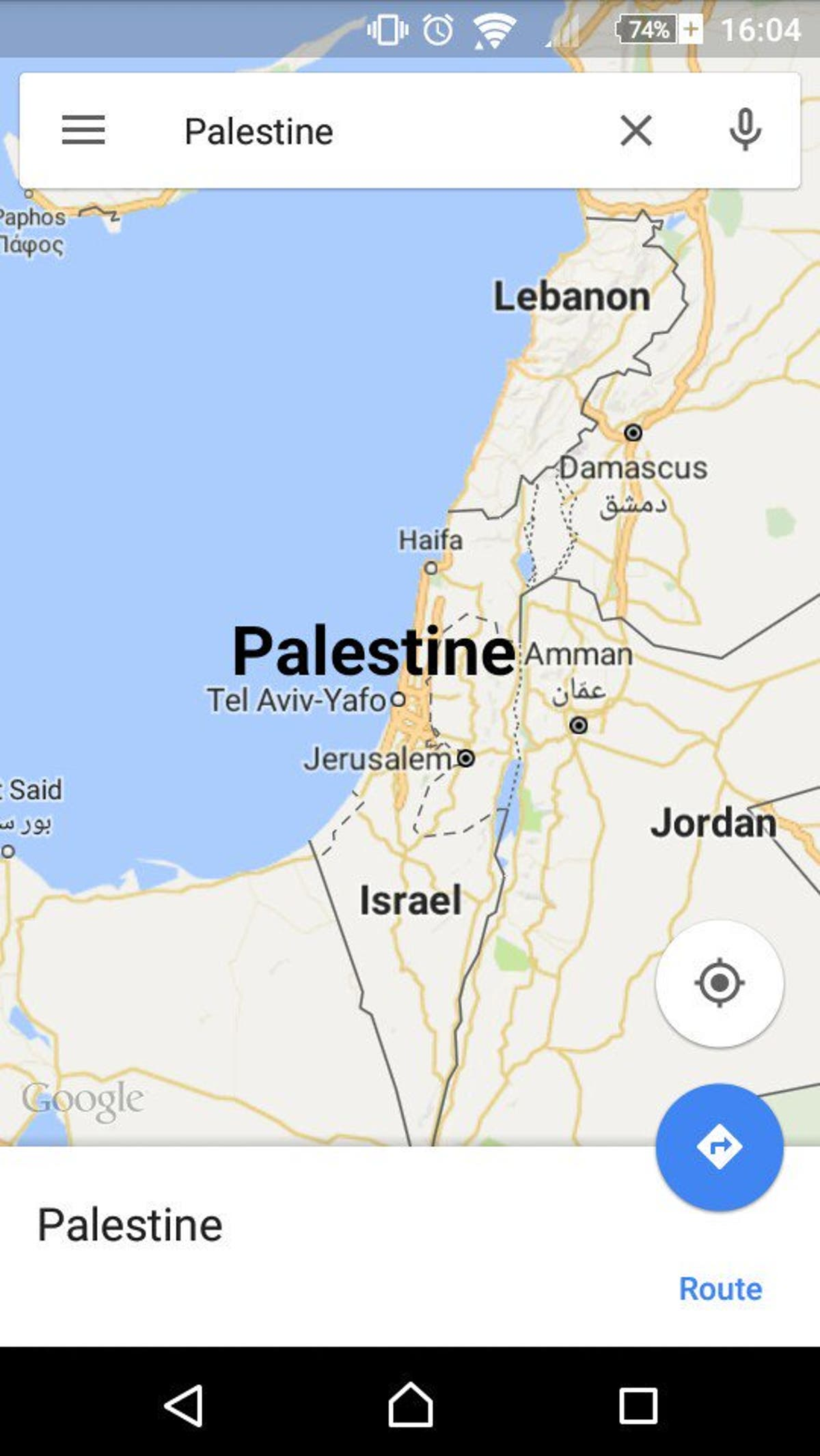 Why Does Google Maps Not Recognize Palestine Or Its Roads