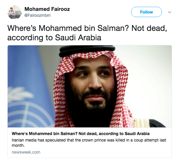 Mystery Solved? Saudi Arabia Releases Footage of Bin Salman After