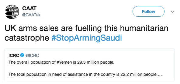 Isn't it About Time for the USA and UK to Stop Arming Saudi